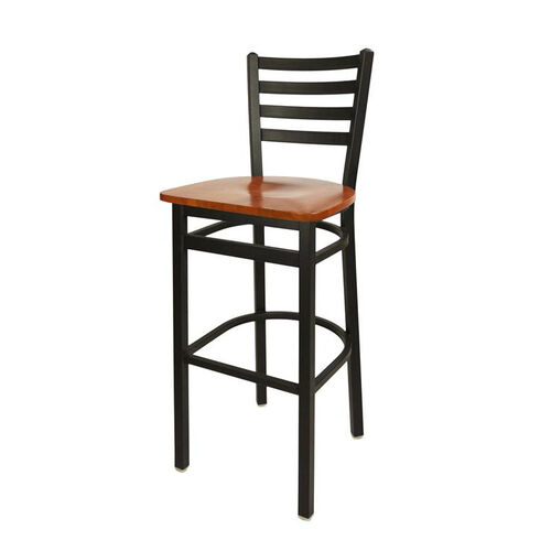 Our Lima Metal Ladder Back Barstool - Cherry Wood Seat is on sale now.