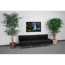HERCULES Imagination Series Black LeatherSoft Lounge Set, 3 Pieces