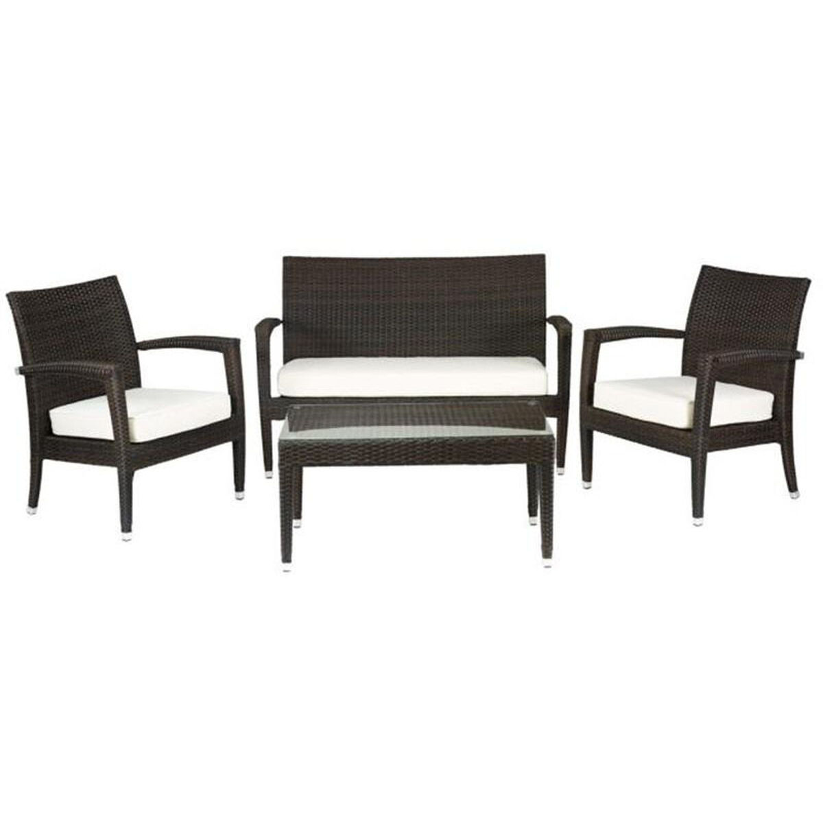 Furniture For Less Miami: Miami Beach Collection Outdoor Wicker Love Seat With Arms