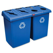 Rubbermaid Commercial Products Glutton 4 Stream Recycling Station - 25.7