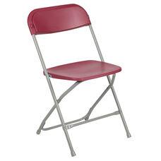 HERCULES Series 650 lb. Capacity Premium Red Plastic Folding Chair