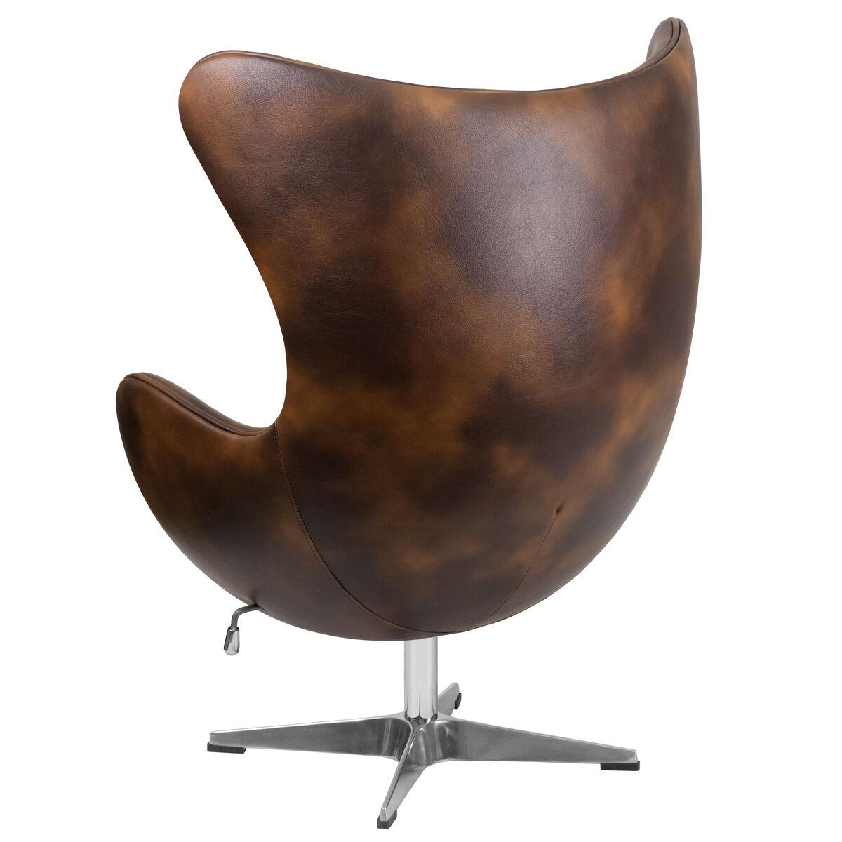 Amazing Bomber Jacket Leather Egg Chair With Tilt Lock Mechanism Ibusinesslaw Wood Chair Design Ideas Ibusinesslaworg