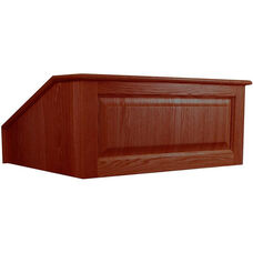 Solid Hardwood Victoria Non-Sound Tabletop Lectern - Mahogany Finish - 27