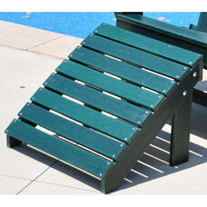 Traditional Recycled Plastic Adirondack Ottoman in Green