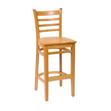 Burlington Natural Wood Ladder Back Barstool - Wood Seat