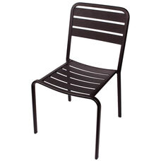 Vista Stackable Outdoor Aluminum Side Chair - Black