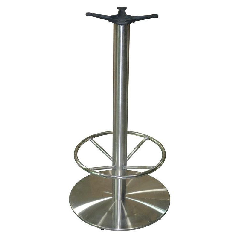 ... Our Stainless Steel Round Bar Height Table Base With 22u0027u0027 Base Spread  And 19