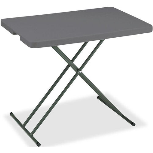 Our IndestrucTABLE TOO Rectangular Adjustable Height Personal Folding Table - Charcoal is on sale now.