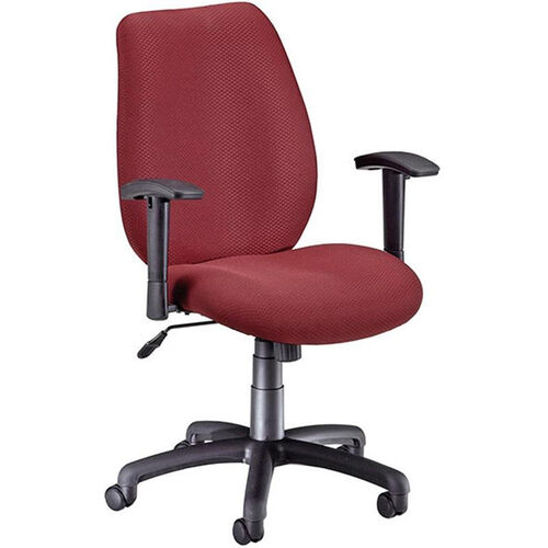 Ergonomic Upholstered Managers Task Chair with Arms - Burgundy