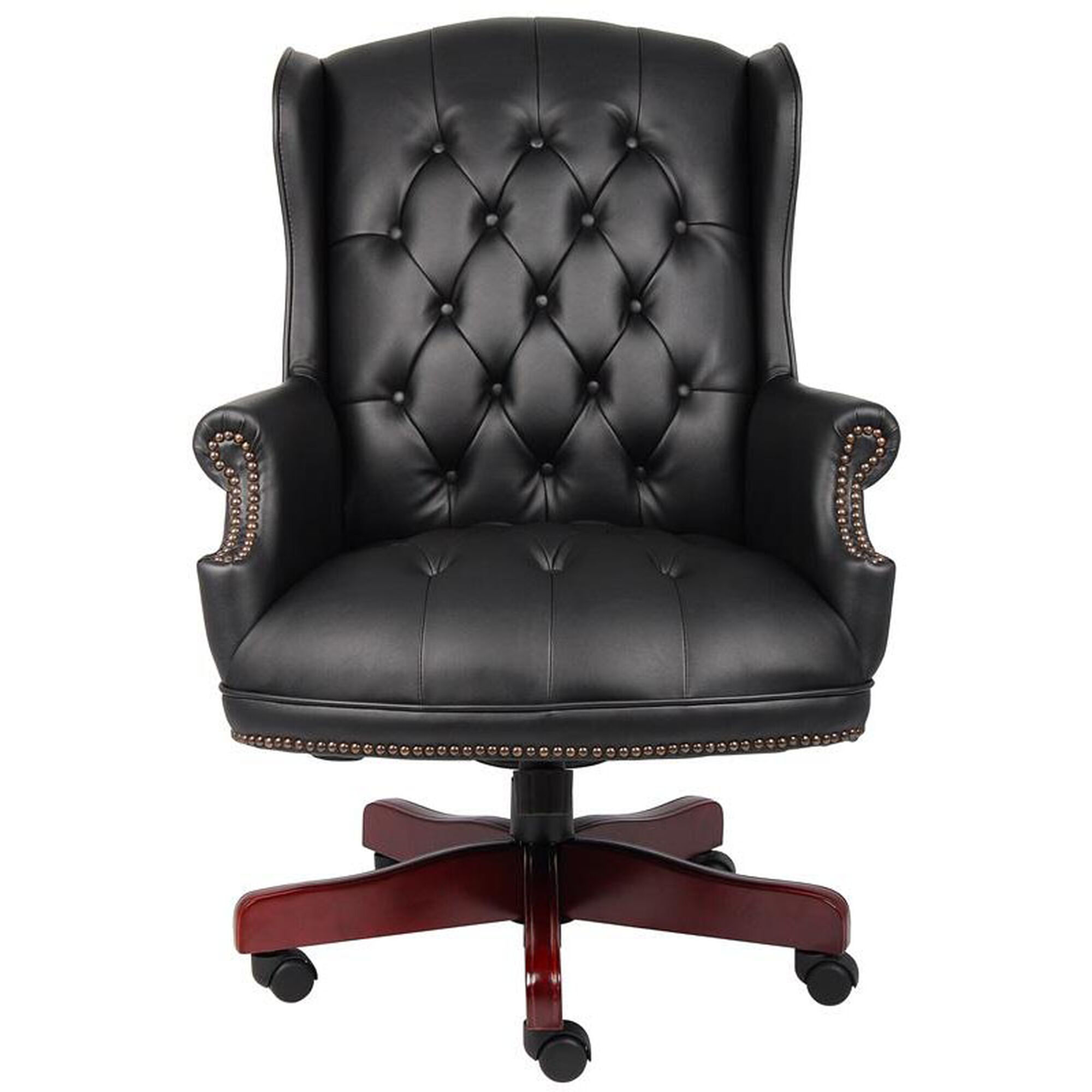Button Tufted Wing Back Chair B800 Bk Restaurantfurniture4less Com