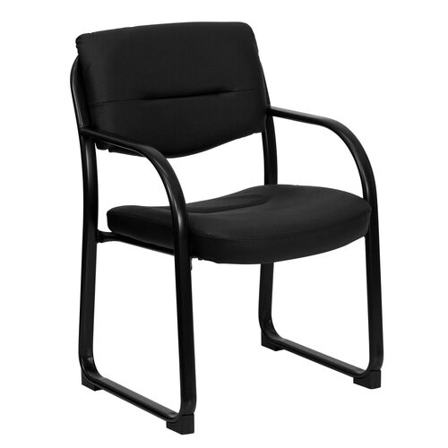 Our Black LeatherSoft Executive Side Reception Chair with Sled Base is on sale now.