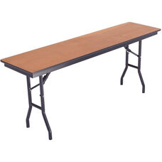 Laminate Top and Plywood Core Folding Seminar Table - 18''W x 96''D x 29''H