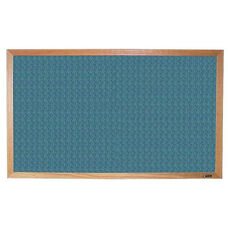 700 Series Tackboard with Wood Frame - Designer Fabric - 60