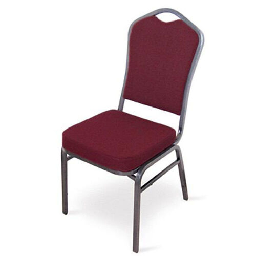Our Superb Seating Heavy-Duty Steel Frame Fabric Upholstered Stacking Chair - Burgundy is on sale now.