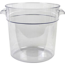 18 Quart Round Food Storage Container in Clear Polycarbonate