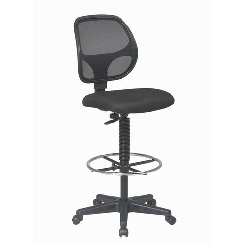 Our Work Smart Deluxe Mesh Back Drafting Chair with Adjustable Foot Ring - Black is on sale now.
