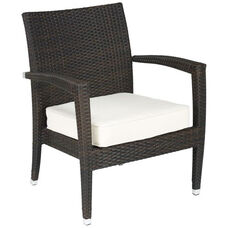 Miami Beach Collection Outdoor Wicker Arm Chair with Sunbrella Cushion - Indo