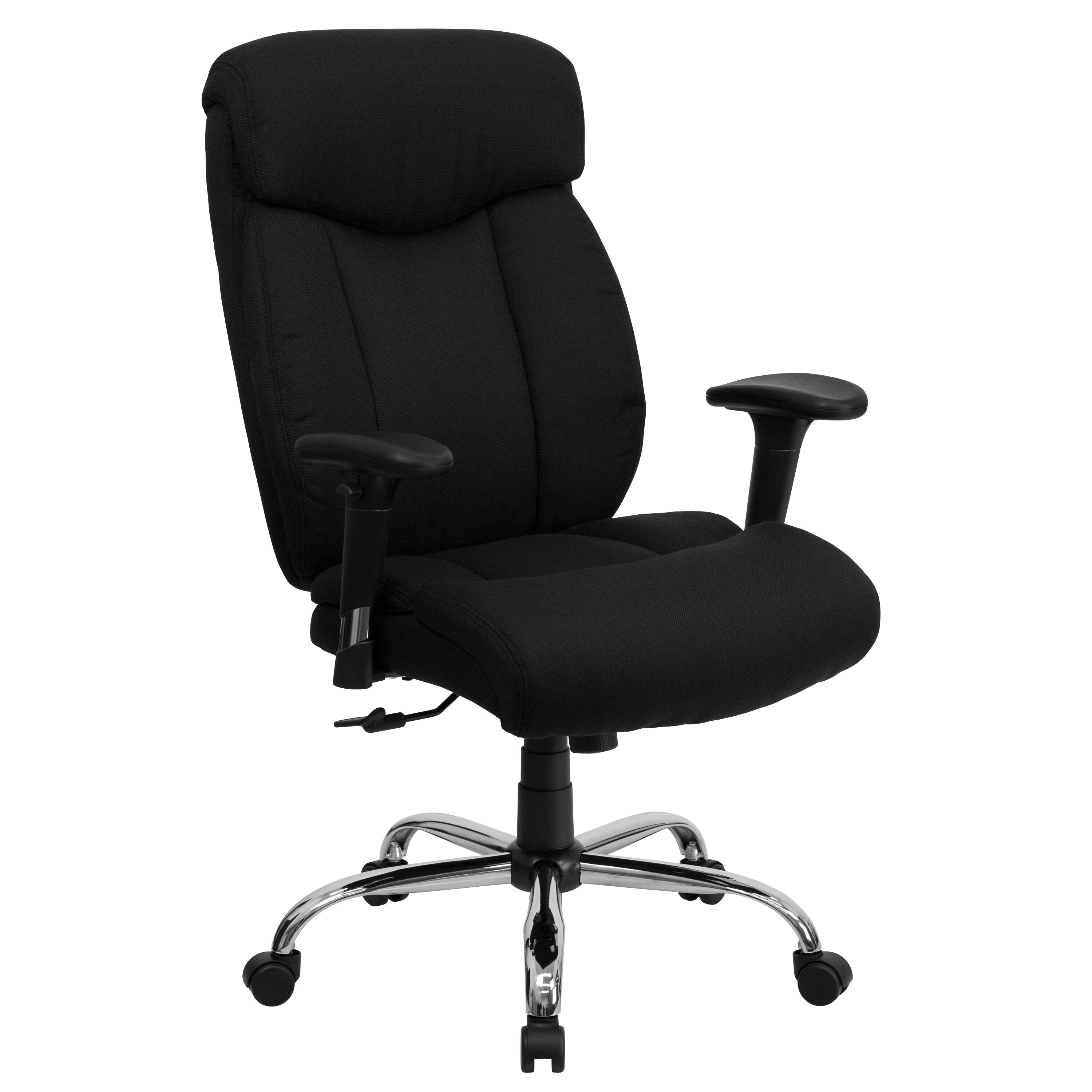 Exceptionnel ... Our HERCULES Series Big U0026 Tall 400 Lb. Rated Black Fabric Executive Swivel  Chair With ...