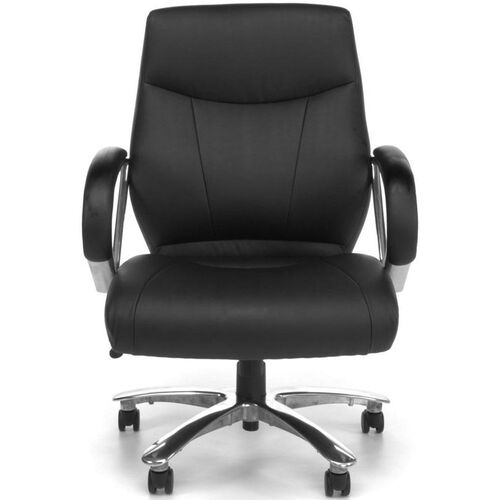 Avenger Series Big & Tall Executive Mid-Back Chair - Black