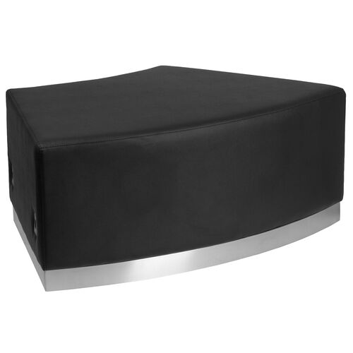 Our HERCULES Alon Series Black LeatherSoft Backless Convex Chair with Brushed Stainless Steel Base is on sale now.