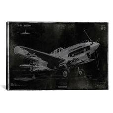 Vintage War Plane by Dylan Matthews Gallery Wrapped Canvas Artwork