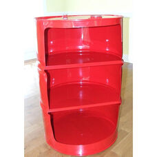 Red Drum Steel Drum Shelf Unit