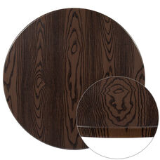 """30"""" Round Rustic Wood Laminate Table Top"""