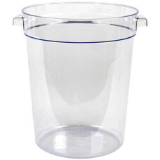 8 Quart Round Food Storage Container in Clear Polycarbonate