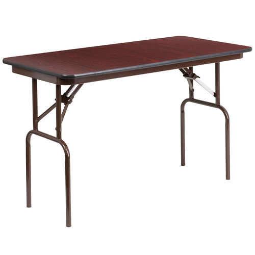 Our 4-Foot High Pressure Mahogany Laminate Folding Banquet Table is on sale now.