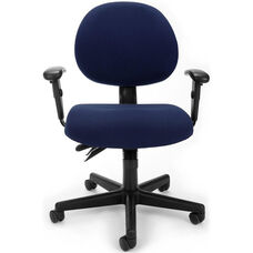 24 Hour Task Chair with Arms - Blue