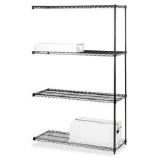 Lorell Add -On -Unit -Wire Shelving -4Shelves/2Posts -36