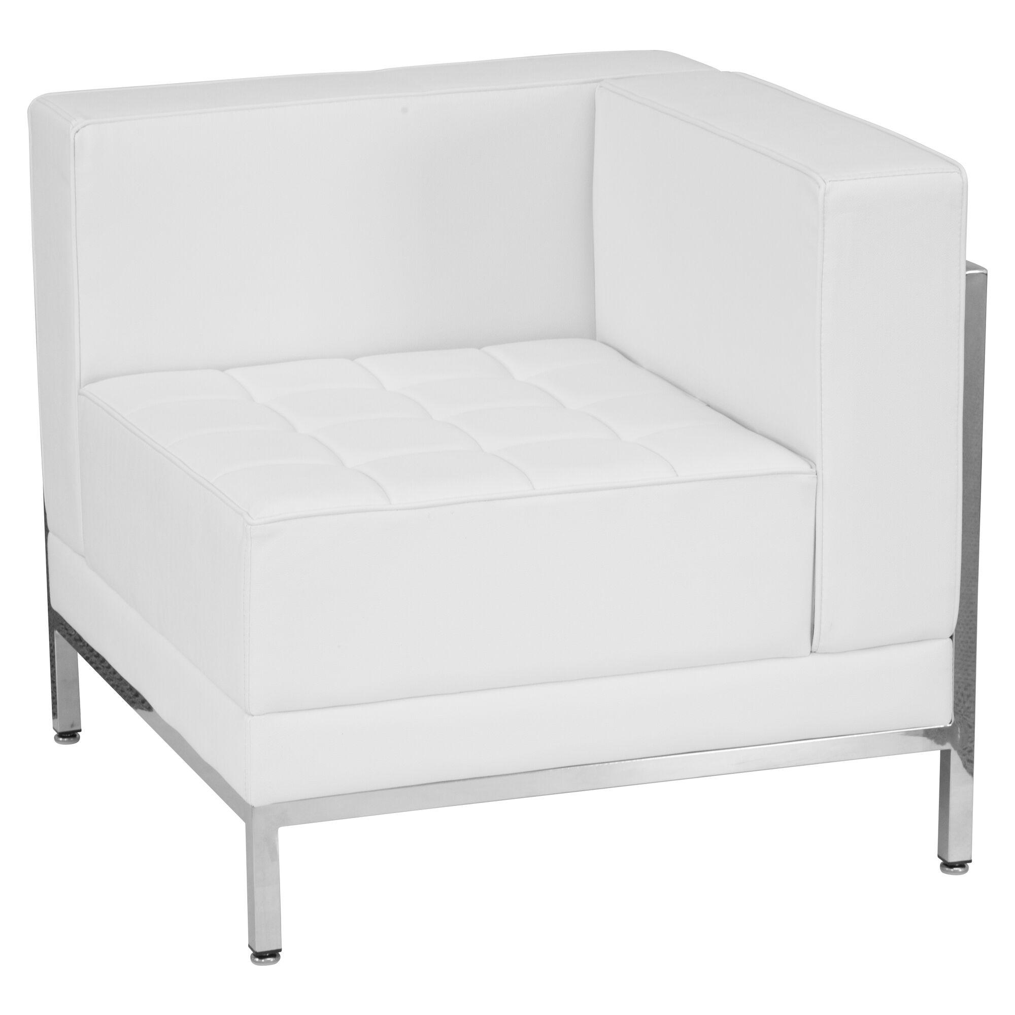 White Corner Leather Chair Zb Imag Right Corner Wh Gg
