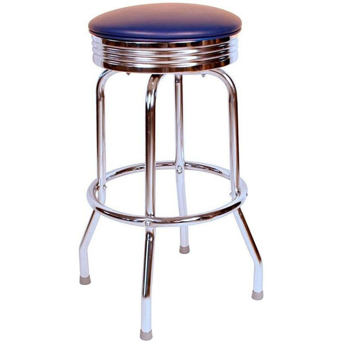 Blue Vinyl Swivel Barstool 0 19715blu24 Restaurantfurniture4lesscom