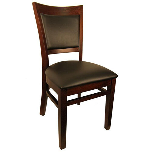 H D Restaurant Supply Wood Upholstered Back Chair 8279