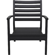 Artemis XL Polypropylene Club Arm Chair - Black