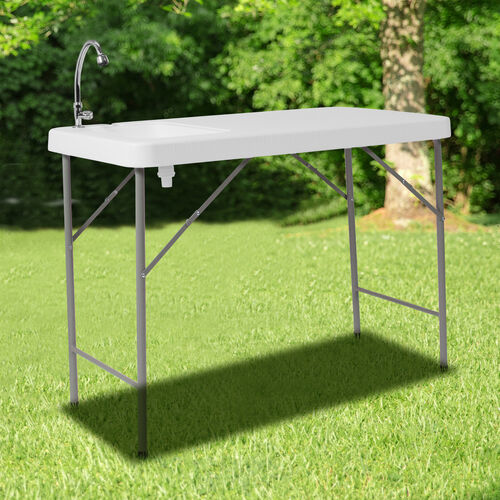 Our 4-Foot Portable Fish Cleaning Table / Outdoor Camping Table and Sink is on sale now.