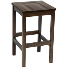 Eastwood Backless Bar Height Stool with Contoured Wood Seat - Walnut