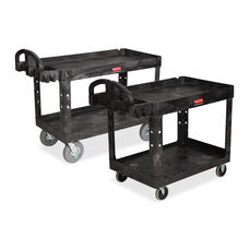 Rubbermaid Commercial Products Heavy-Duty Two-tiered Utility Cart - 25.4