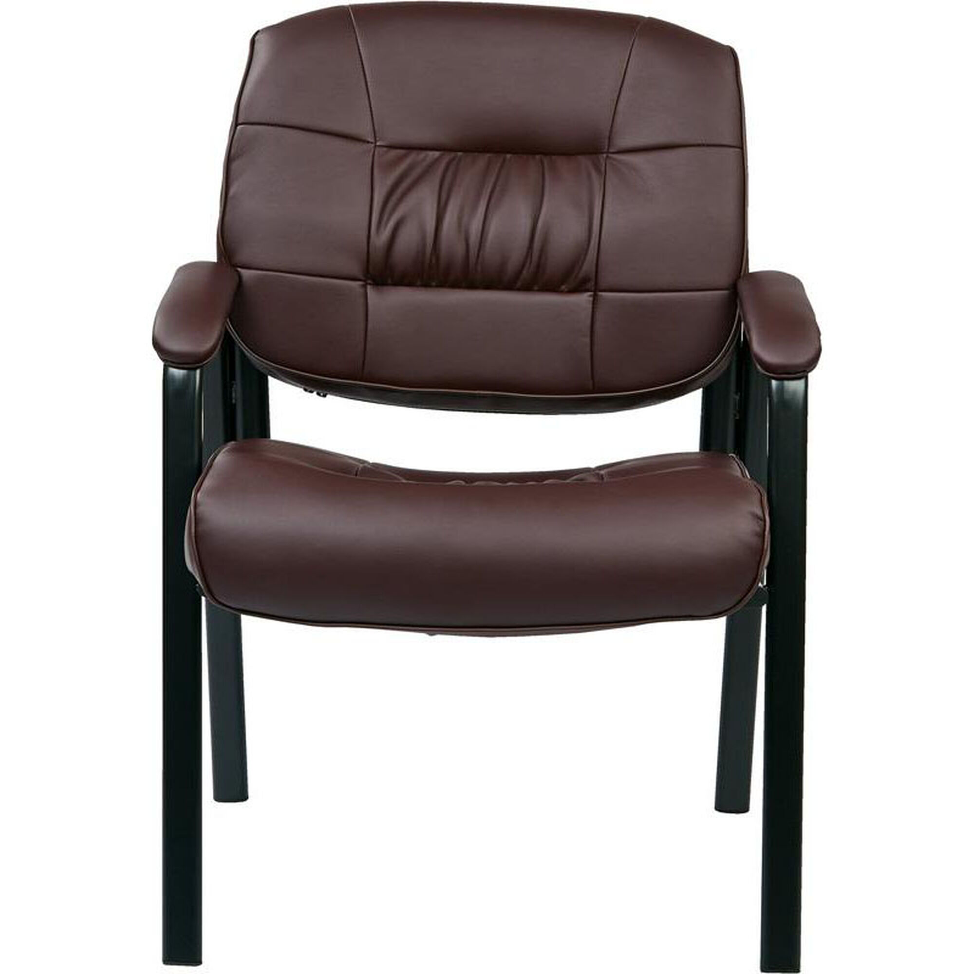 Work smart burgundy guest chair ec