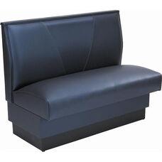 36''H Upholstered V-Shaped Back Single Sided Booth - Grade 5 Vinyl