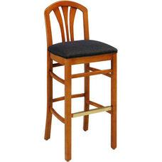 693 Bar Stool w/ Upholstered Back & Seat - Grade 1