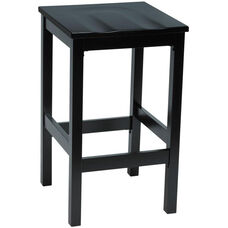 Eastwood Backless Bar Height Stool with Contoured Wood Seat - Black