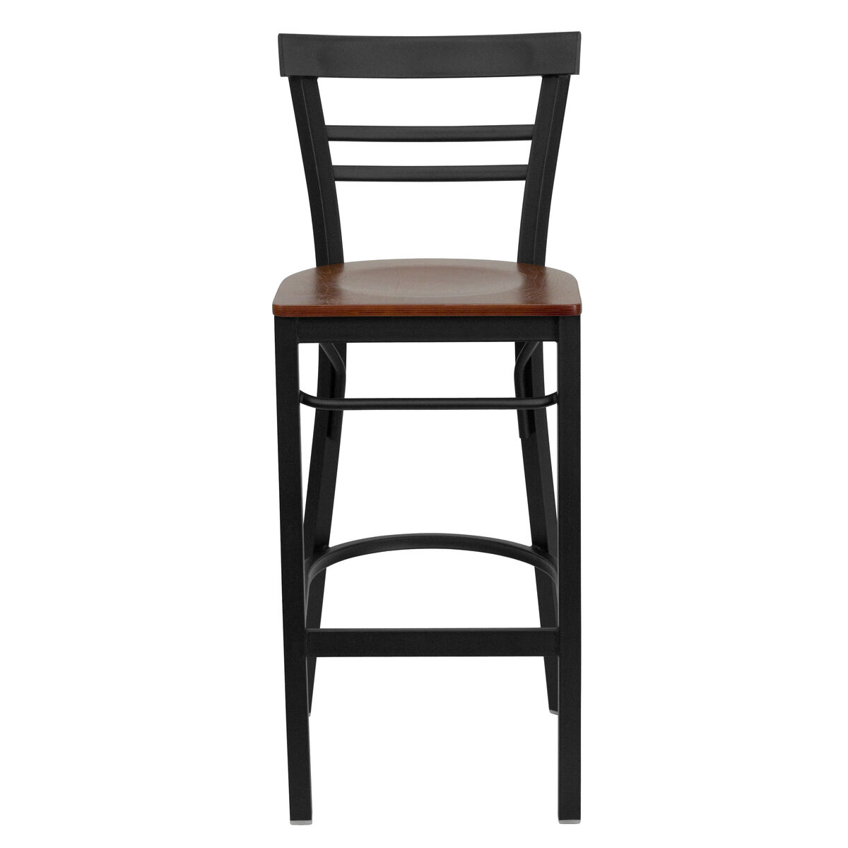 Black Ladder Stool Cherry Seat Bfdh 6145cwbarlad Tdr