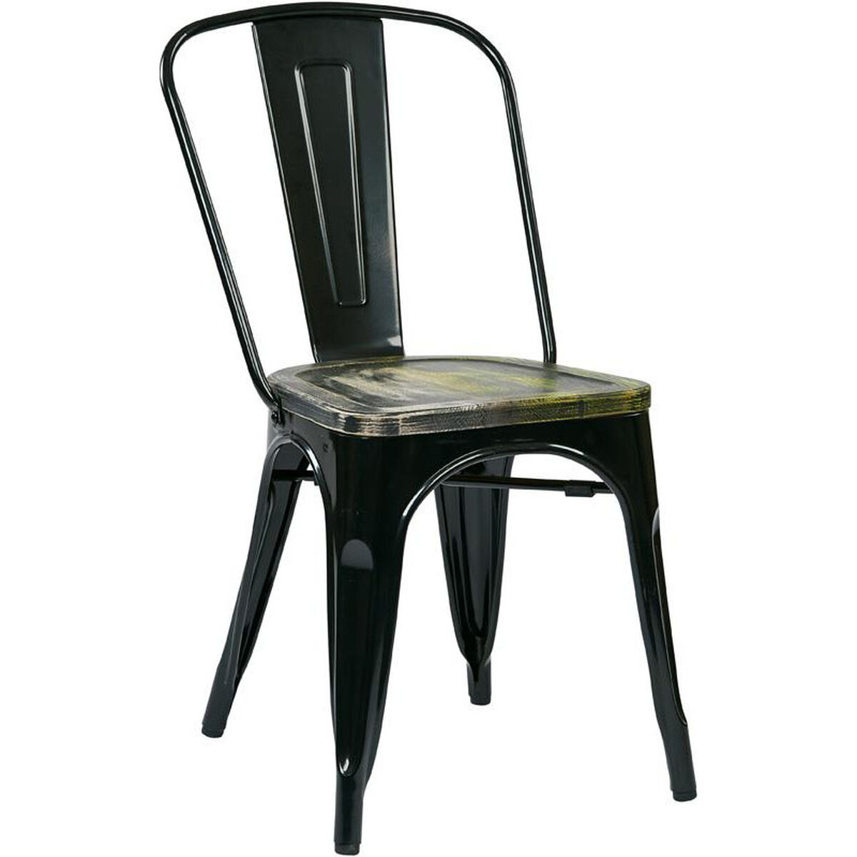 Set Of 4 Black Metal Chair Brw293a4 C301