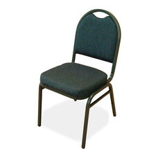 Lorell Blue Upholstered Stack Chairs - Set of 4
