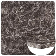 """42"""" Square Gray Marble Laminate Table Top"""
