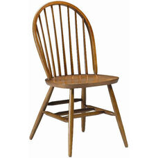 835 Side Chair with Wood Hoop Back and Wood Seat