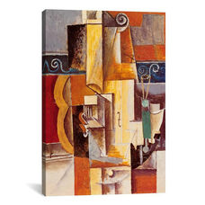 Violin and Guitar by Pablo Picasso Gallery Wrapped Canvas Artwork