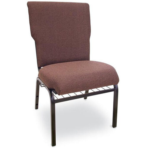 Our Auditorium Steel Frame Fabric Upholstered Stacking Chair - Espresso is on sale now.