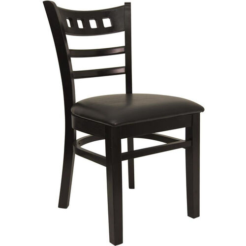 Our American Back Chair with Black Finish and Black Vinyl Seat is on sale now.
